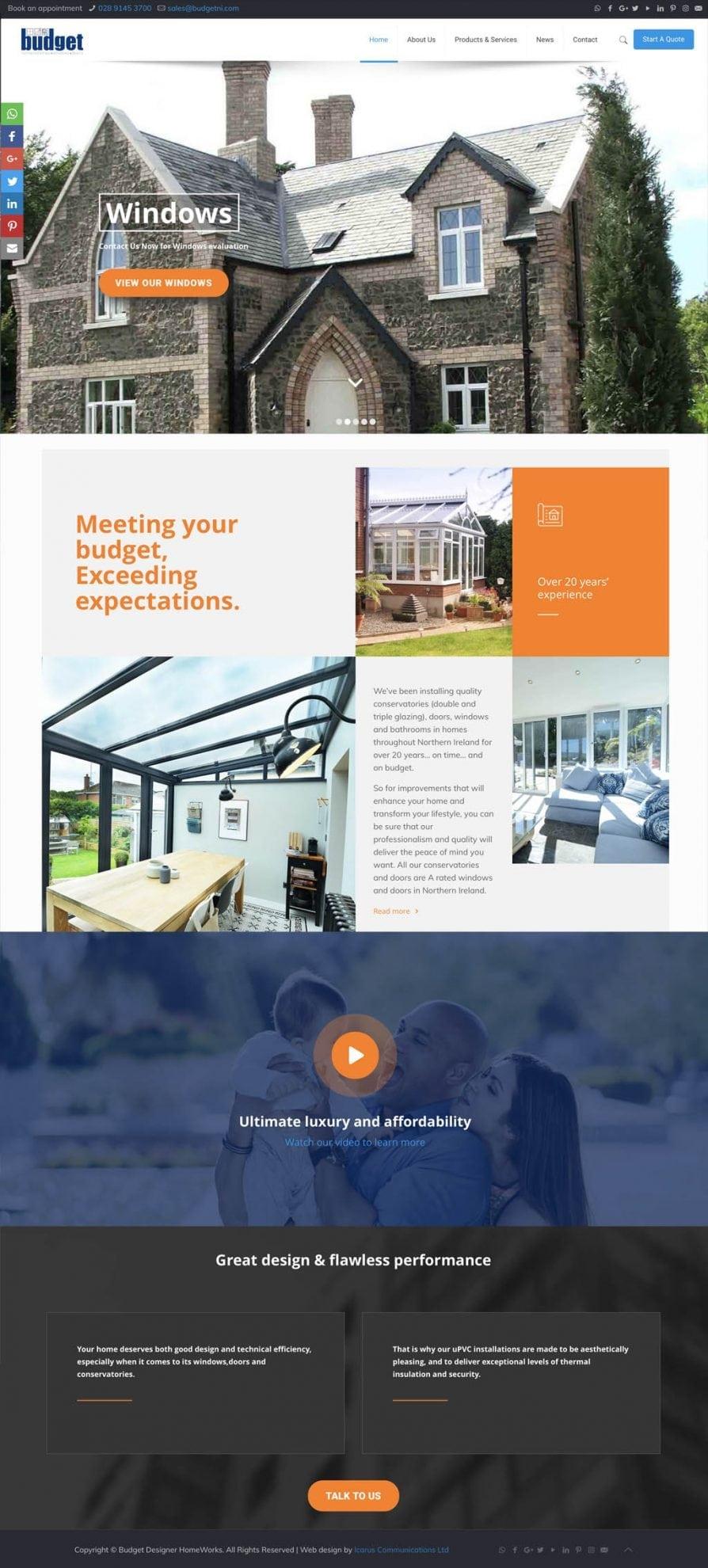 website-layout-budget