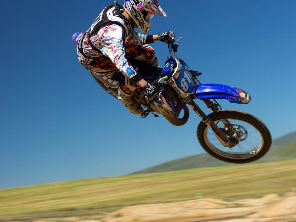 man on dirt bike