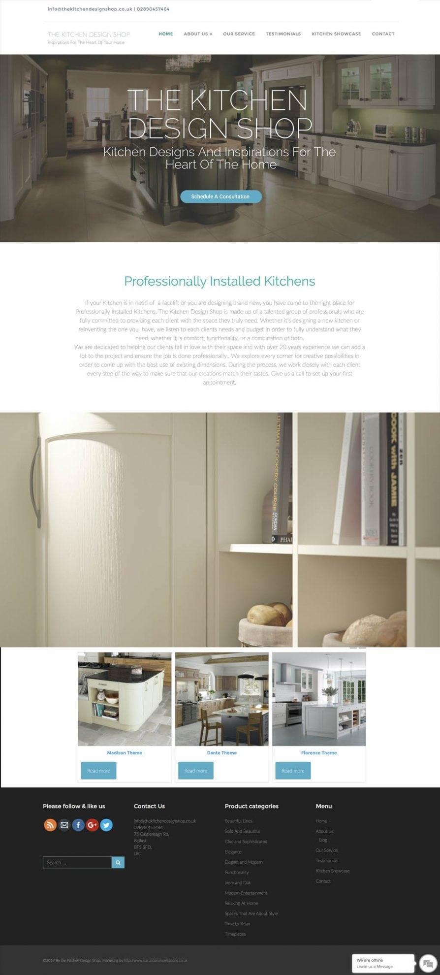 shop website kitchen