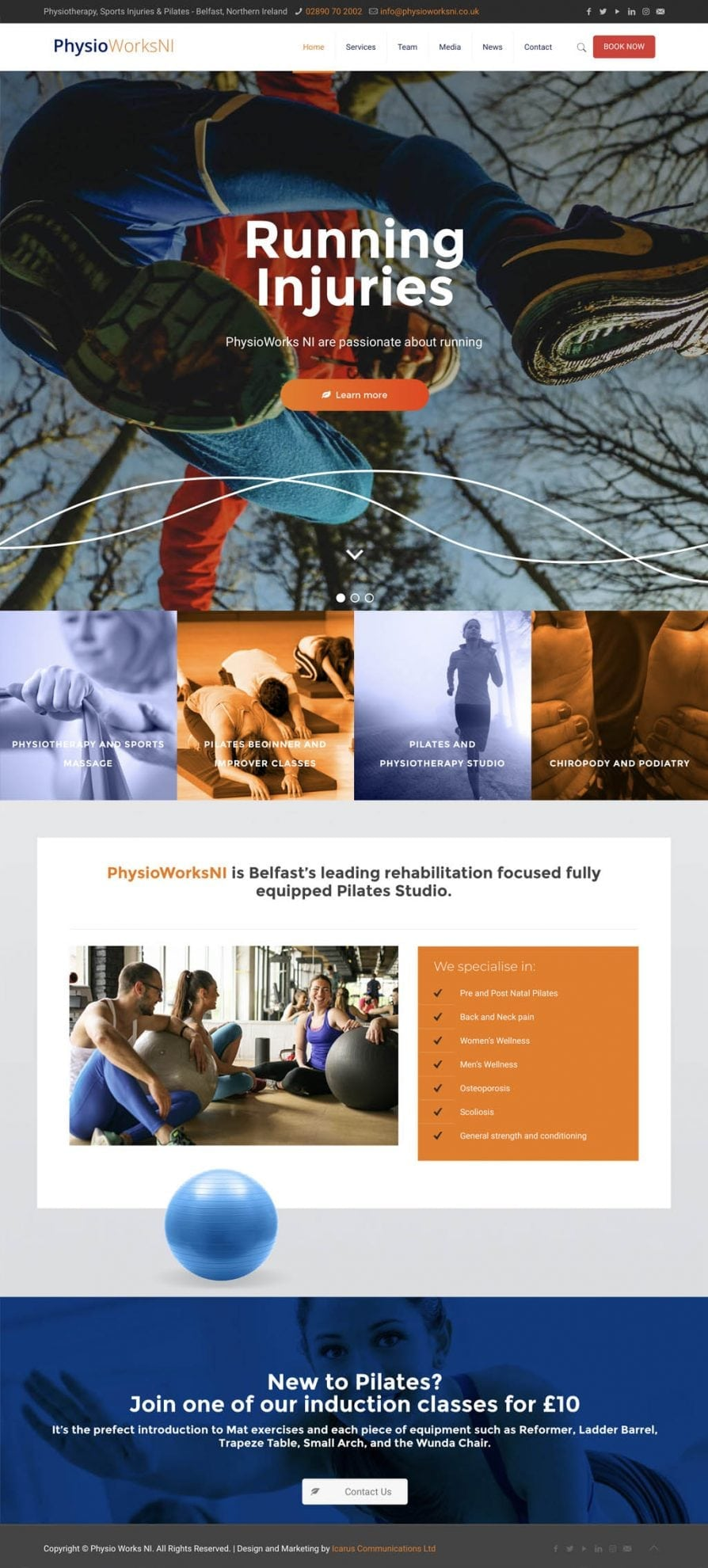 website for physio