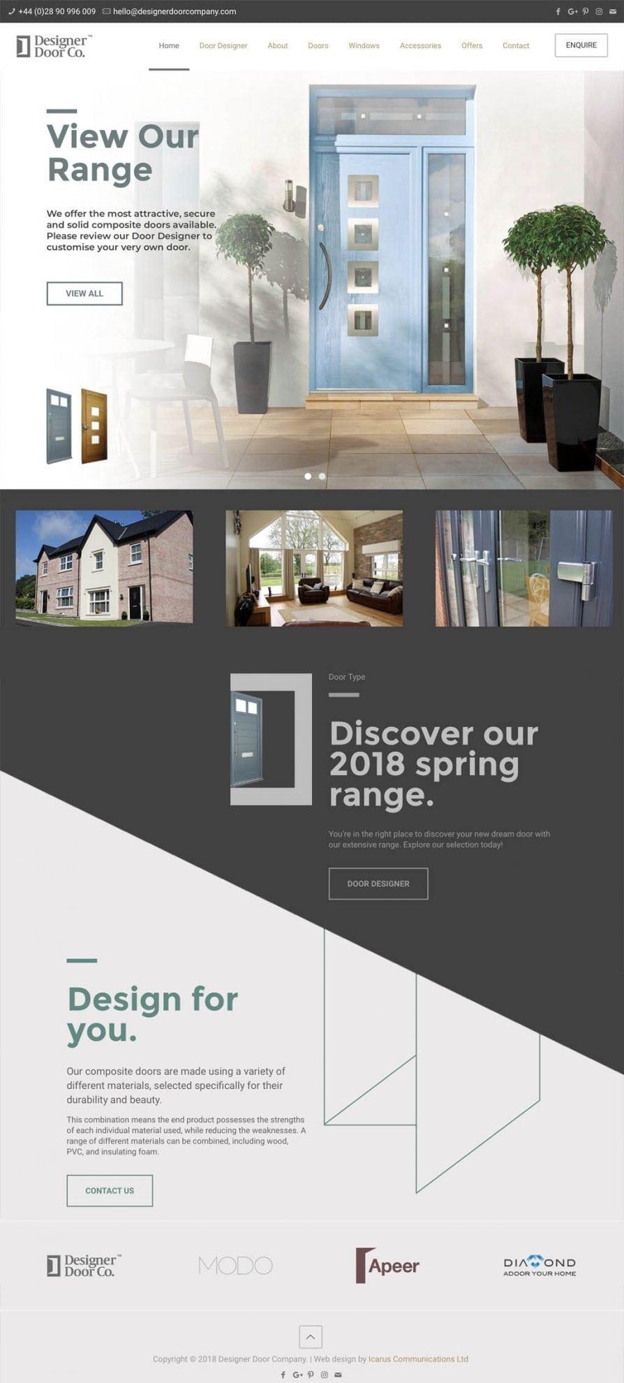 designer door website