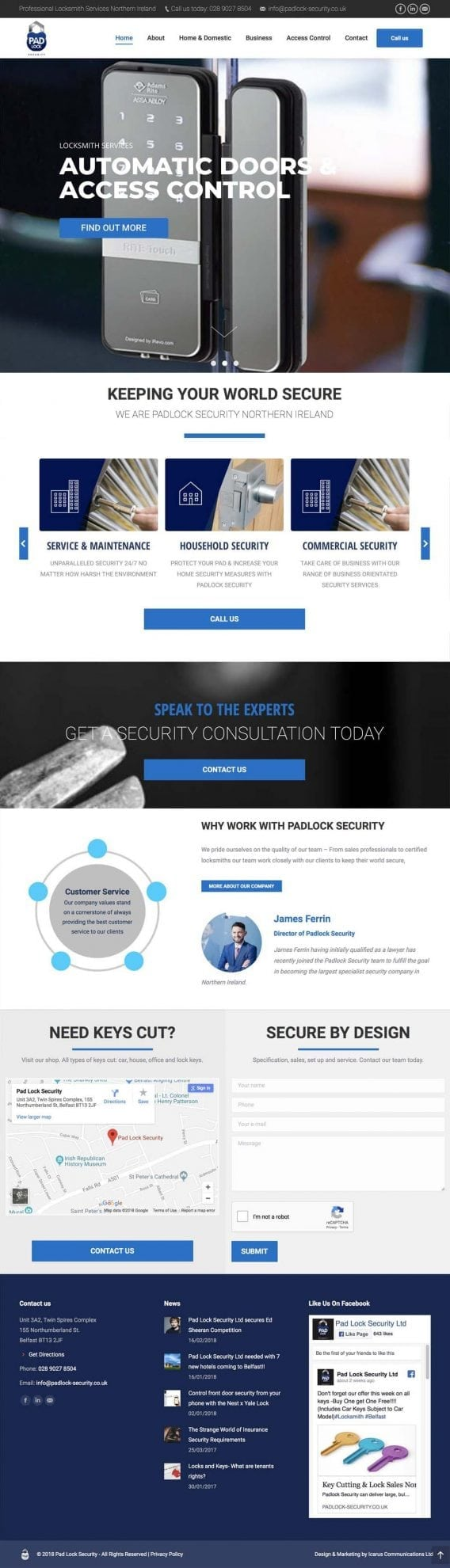padlock security website design
