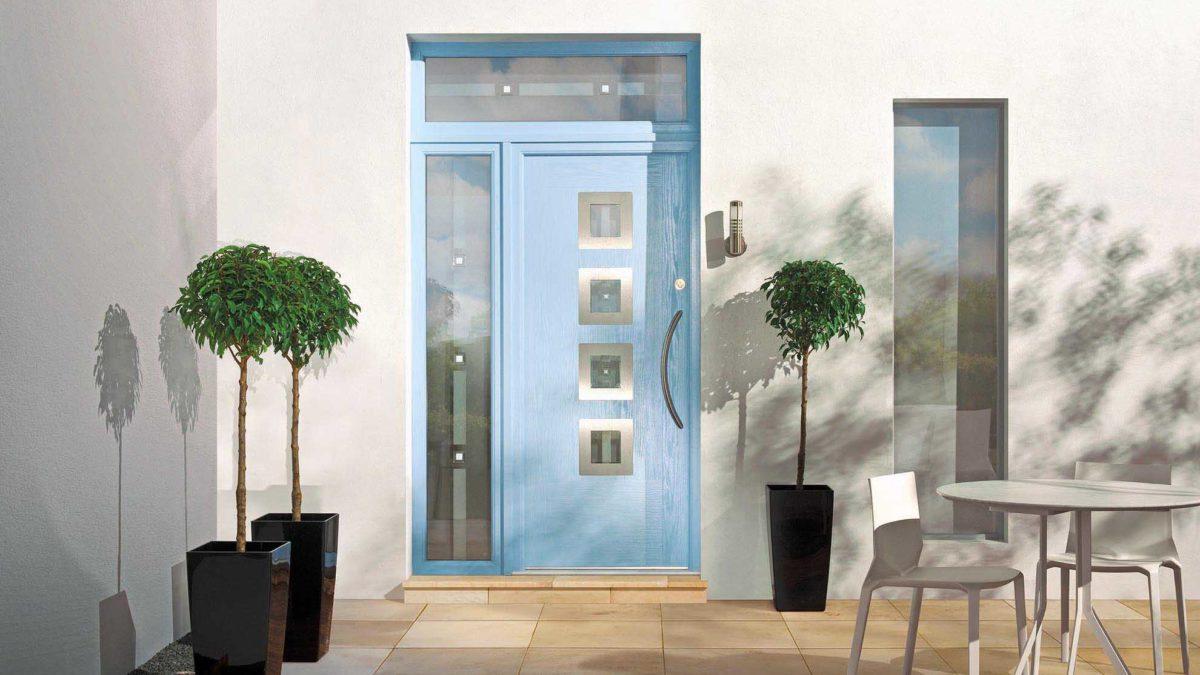 image of blue door